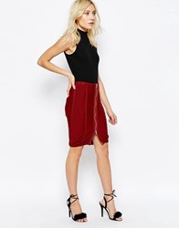 Glamorous Bodycon Skirt Rust Red