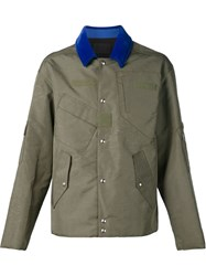Alexander Wang Multi Pocket Military Jacket Green