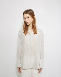 Pas De Calais Striped Henley Blouse