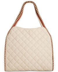 Big Buddha Quilted Gold Ball Tote Dark Blue