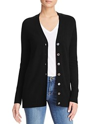 Bloomingdale's C By Grandfather Cashmere Cardigan Black