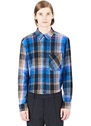 Missoni Plaid Woven Shirt Blue