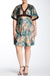 Stevie And Lindsay Animal Print Kaftan Dress Plus Size Multi
