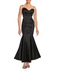 Xscape Evenings Petite Sweetheart Neck Mermaid Gown Black