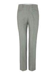 Houndstooth Tailored Wool Trouser Black