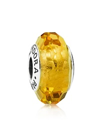 Pandora Design Pandora Charm Murano Glass And Sterling Silver Fascinating Ochre Moments Collection Ochre Silver