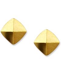 Vince Camuto Earrings Gold Tone Pyramid Stud Earrings