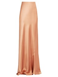 Galvan Bias Cut Satin Skirt Copper