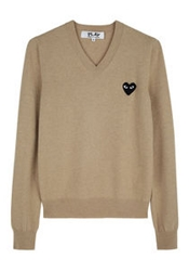 Comme Des Garcons Play Black Emblem Sweater La Garconne