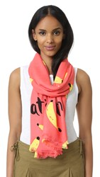 Kate Spade That's Bananas Oblong Scarf Watermelon