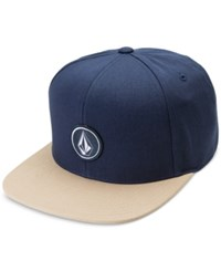Volcom Men's Quarter Snap Back Hat Gravel