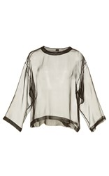 Alexis Mabille Chiffon Relaxed Fit Shirt Black