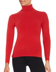Lord And Taylor Cashmere Turtleneck Sweater Fireball