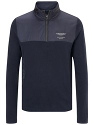 Hackett London Amr Zip Jersey Top Midnight