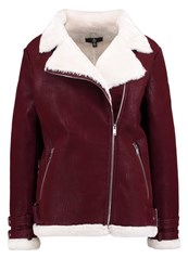 Missguided Faux Leather Jacket Rust Brown