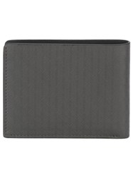 Salvatore Ferragamo Textured Square Wallet Grey