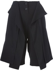 Lost And Found Draped Shorts Black