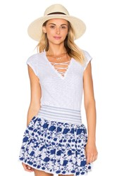 Lamade Olivia Lace Up Top White