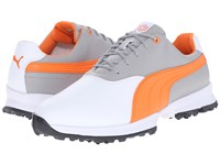 Puma Golf Ace White Vibrant Orange Drizzle Men's Golf Shoes