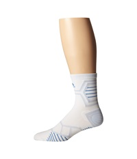 Adidas Energy Running Single Mid Crew White Bright Royal Pearl Opal Crew Cut Socks Shoes
