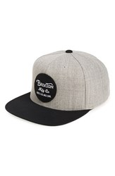 Brixton Men's 'Wheeler' Snapback Cap Grey Light Heather Grey Black