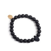Bu Designs Daiji Onyx And 3D Printed Buddha Bead Bracelet Black