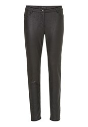 Betty And Co. Textured Pleather Trousers Black