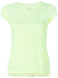 People People Fluo Striped T Shirt Yellow And Orange