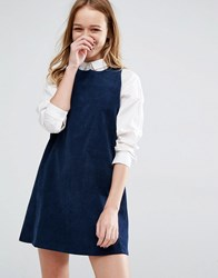 Native Youth Pinny Overlay Dress Navy Blue