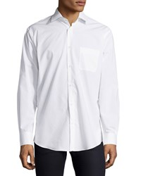 Neiman Marcus Classic Fit Regular Finish Solid Sport Shirt White