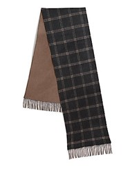 Saks Fifth Avenue Merino Wool And Cashmere Scarf Olive Beige