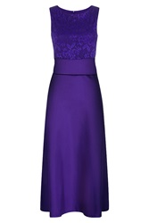 Hotsquash Midi Dress With Detail Top Purple