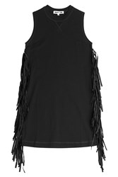 Mcq By Alexander Mcqueen Mcq Alexander Mcqueen Mini Dress With Fringe Black