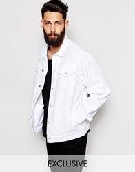 Reclaimed Vintage Oversized Denim Jacket White