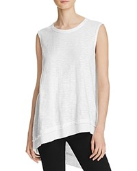 Wilt Raw Slant Tunic White