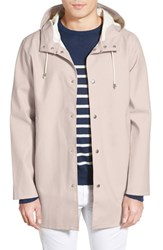 Men's Stutterheim 'Stockholm' Waterproof Longline Hooded Raincoat Lightsand