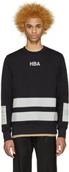 Hood By Air Black And Grey Jock Boxes Pullover