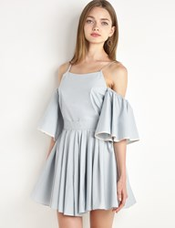 Pixie Market Ruffled Sleeve Fit And Flare Dress