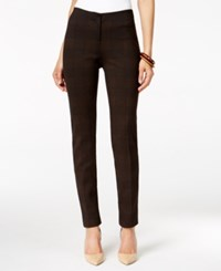 Alfani Skinny Pants Only At Macy's Houndstooth Plaid Sienna
