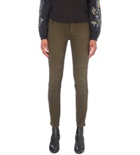 Closed Robyn Military Skinny Jeans Shadow Green