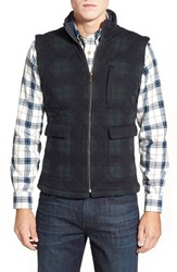 Men's Brooks Brothers 'Blackwatch' Quilted Plaid Full Zip Vest