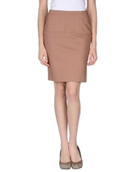 Betty Blue Knee Length Skirts Skin Color