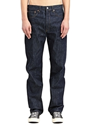 New Season Levi's Vintage Mens Classic Fit 1955 501 Rigid Raw Washed Selvedge Denim Jeans