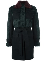 Sonia Rykiel By Multiple Flap Pockets Coat Black