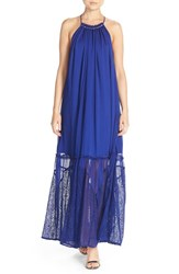 Adelyn Rae Women's Lace High Neck Maxi Dress