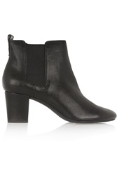 Dkny Perdy Textured Leather Ankle Boots