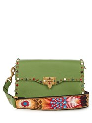 Valentino Rockstud Rolling Leather Cross Body Bag
