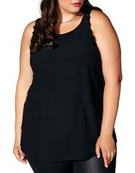Mblm By Tess Holiday Plus Lace Up Sleeveless Top Black