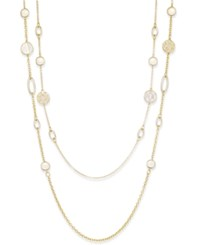 Charter Club Gold Tone Shell Look Long Length Double Layer Necklace Only At Macy's