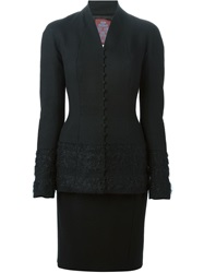John Galliano Vintage Classic Belted Suit Black